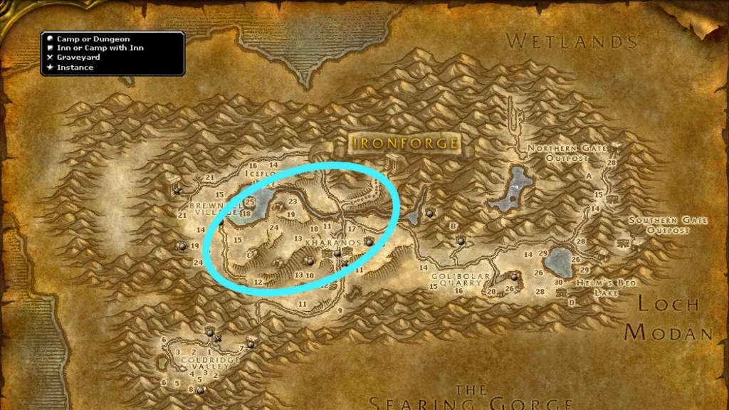 dun-morogh-wow-classic-bergbau-route