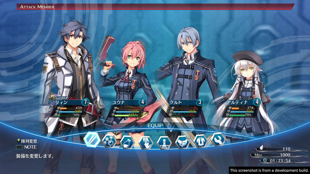 the legend of heroes trials of cold steel 3 party inventar menu