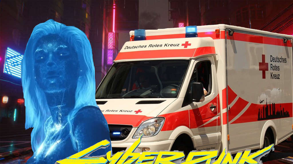 Cyberpunk 2077 CD Projekt RED Night City Krankenwagen