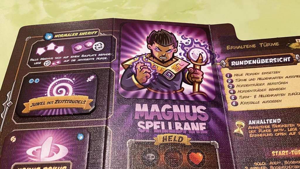 Kingdom Rush Magnus Spellbane Held Zauberer Magier Tableau